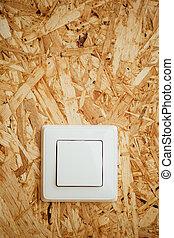 elektrisch, houten, licht, achtergrond, switch, osb