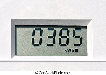 elektrisch, meter, digital