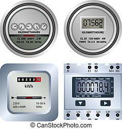 elektrisch, meter