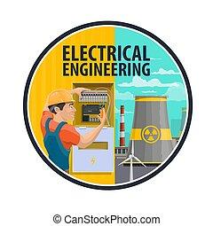 elektrisch, techniek, elektromonteur, krachtinstallatie