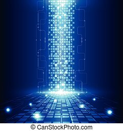 elektrisch, telecom, abstract, techniek, vector, achtergrond, toekomst, technologie