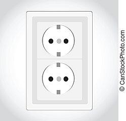 elektrisch, vector, inbouwdoos