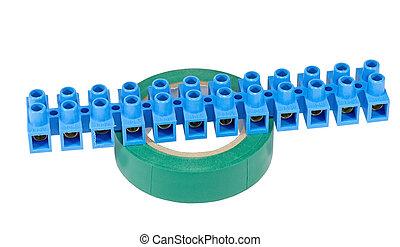 elektrisch, verbinder, band, kabel
