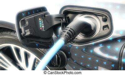 elektrisch voertuig, wezen, aangesloiten