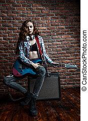 elektrische gitarre, musik