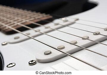 elektrische guitar, mooi, halen instrument af