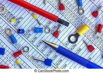 Elektrische Komponenten, Auf, Schematisches Diagramm