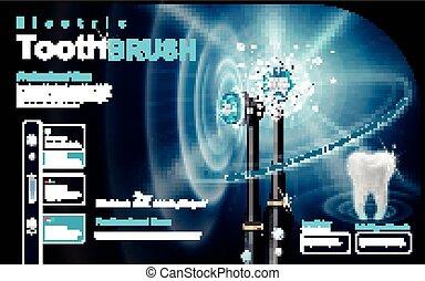 elektrische toothbrush, advertentie