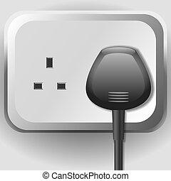 elektrischer sockel, kabel