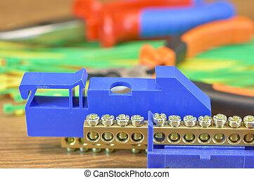 elektrisk, använd, komponent, flera, installationer