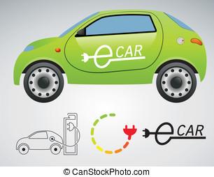 elektrisk, bil