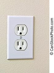 elektrisk, hus, avlopp