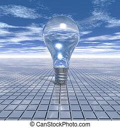 elektrisk, ljus kula