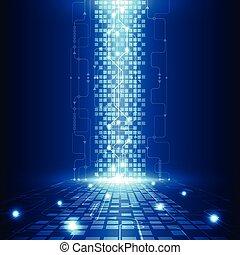 elektrisk, telecom, abstrakt, ingenjörsvetenskap, vektor, ...