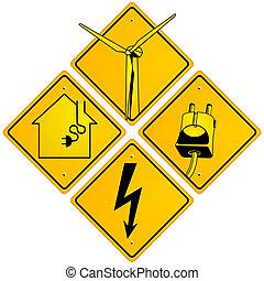 elektrisk, underteckna