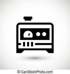 elektriske, generator, ikon