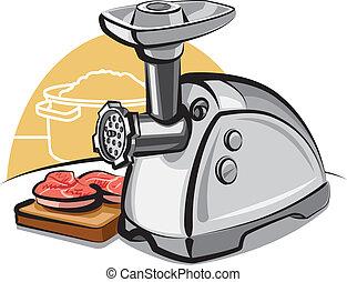 elektriske, grinder kød