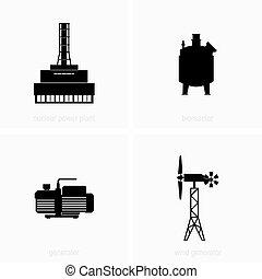 elektrizität, generation, stationen