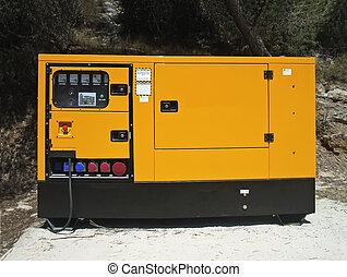 elektrizität, generator