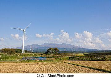 elektrizität, wind-generated