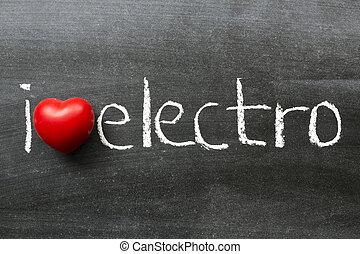 elektro, liebe