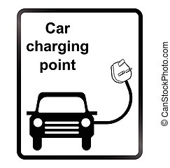 elektroauto, informationen zeichen