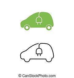 elektrische strom versorgung eco auto concept. Black Bedroom Furniture Sets. Home Design Ideas