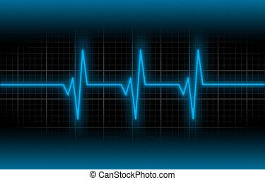 elektrocardiogram, -, concept, van, gezondheidszorg