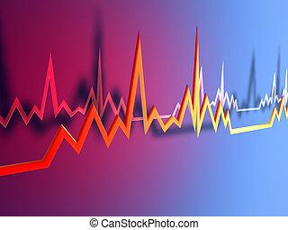 elektrokardiogramm, egyenes, 1