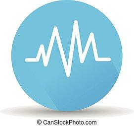 elektrokardiogramm, ikon