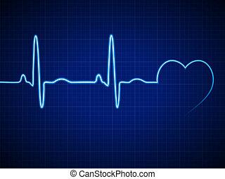 elektrokardiogramm, szív ritmus
