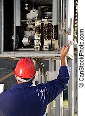 elektromonteur, inspecteren, paneel