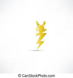 elektromos, ikon