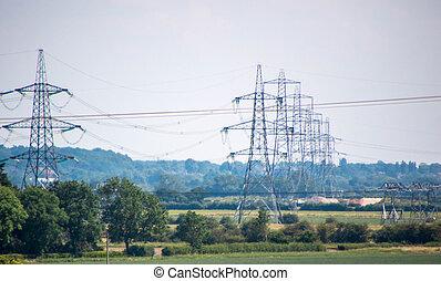 elektromos, megvonalaz, eloszlatás