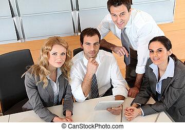 elektronický, tabulka, setkání, úřad, povolání