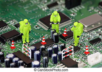 elektronik, mülltrennung, begriff