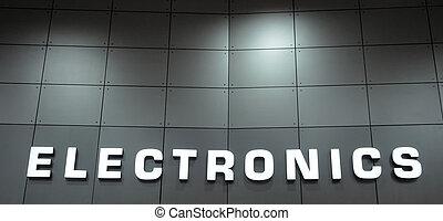 elektronik, underteckna