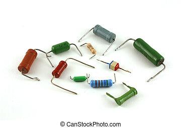 elektronisch, komponenten, -, widerstände