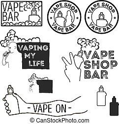 elektronisch, sigaret, set.