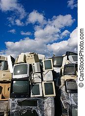 elektronisch, verschwendung, modern