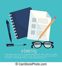 elektronisk lära, teknik ikon