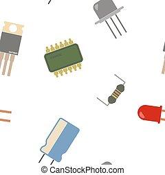 elektronisk, seamless, bakgrund