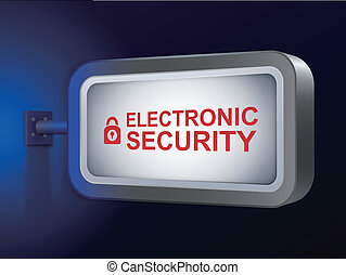elektroniske, garanti, gloser, på, plakattavle