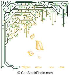 elektronowy, drzewo