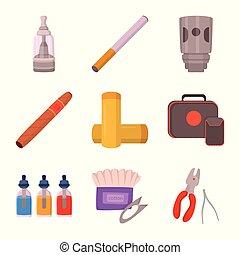 elektronowy, symbol, web., zbiór, filtr, wektor, projektować, urządzenie, logo., pień