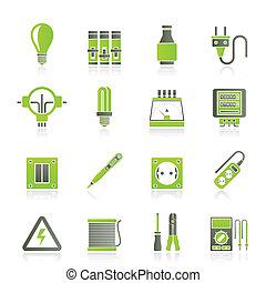 elektryczne maszynki, ikony