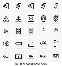 elektryczność, ikony
