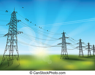elektryczność lina