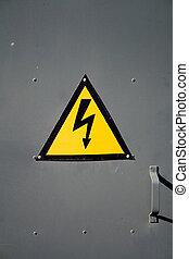 elektryczność, ostrzeżenie