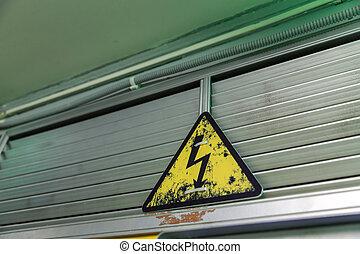 elektryczność, ostrzeżenie znaczą